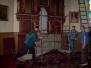 Demontaż ołtarza głównego i prace przy prezbiterium